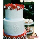Details Red Wedding Cake, bruidstaart 's-Hertogenbosch, bruidstaart den bosch
