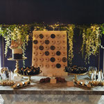 Wedding SweetTable Black and White with a touch of Gold, Kim en Lianne, lokatie Kasteel Meerwijk