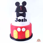 Josh, happy ears, Mickey taart Den Bosch