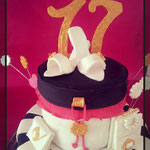 Sweet Seventeen Years taart,Fashion Cake,Lisa, taart Den Bosch