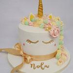 Unicorn Cake, Nola 1 jaar, Taart Den Bosch