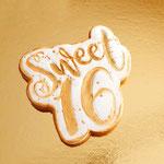 Sweet 16 Cookie, Koekje als bedankje, Cookies Den Bosch