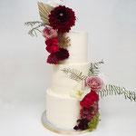 Autumn WeddingCake, Cheryll en Vince, Bruidstaart Den Bosch, Weddingcake Den Bosch