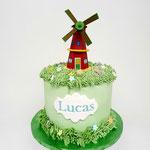 Hollandse Molen Taart, Windmill Cake, Lucas 4 jaar, Taart Den Bosch