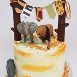 Jungle Birthday Cake, Beau 1 Jaar, Taart Den Bosch