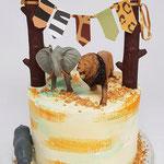 Jungle Birthday Cake, Beau 1 Jaar, Taart Den Bosch