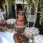 Red Velvet Naked WeddingCake, SweetTable Karin en Paul, SweetTable Den Bosch, SweetTable Den Bosch