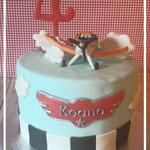 Planes taart Keano, taart Den Bosch