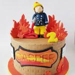 Brandweerman Sam taart, Casper, Taart Den Bosch