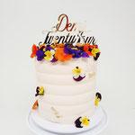 TwentyFour, Edible Flowers Cake, Taart Den Bosch