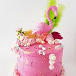 Flamingo Cake, Taart Den Bosch