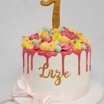 Flower Drip Cake, Lize 1 jaar, Taart Den Bosch