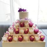 Purple Love WeddingCake, Michael en Debbie, WeddingCake Den Bosch, Bruidstaart Den Bosch