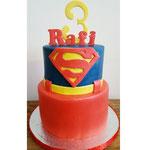 Supermantaart Rafi, taart Den Bosch