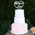 Buttercream Roses WeddingCake, Marwin en Lisa, bruidstaart 's-Hertogenbosch, bruidstaart den bosch