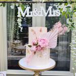 Blush WeddingCake, Elaine en Maikel,  Bruidstaart Den Bosch, WeddingCakes Den Bosch. lokatie Klooster Bethlehem
