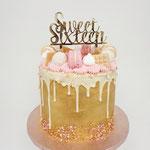 Golden SweetSixteen Cake, Taart Den Bosch