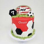 Voetbaltaart PSV, Omar 7 jaar, Taart Den Bosch