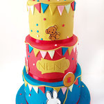 Nijntje vrolijke kleuren taart Nena, Taart Den Bosch