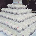 CupCake toren, Naked Wedding Cake, bruidstaart 's-Hertogenbosch, bruidstaart den bosch