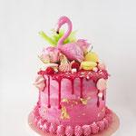 Flamingo Cake, Marieke, Taart Den Bosch