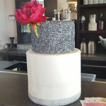 Silver Confetti WeddingCake, bruidstaart 's-Hertogenbosch, bruidstaart den bosch