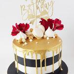 Black,White Gold Cake, Jill, Taart Den Bosch
