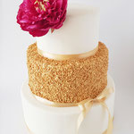 Golden Confetti WeddingCake, bruidstaart 's-Hertogenbosch, bruidstaart den bosch
