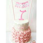 Buttercream roses Cake with lace, June, Taart Den Bosch