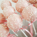 Cakepops Pink with white sprinkles, Cakepops den Bosch