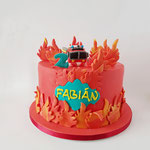 Brandweertaart, Fabian, Taart Den Bosch