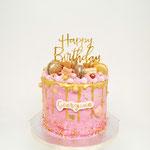 Pink en Gold DripCake, Georgina, Taart Den Bosch