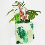 Jungle leaves, Siem 1 jaar, Taart Den Bosch