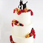 WeddingCake with Fresh Fruit, Danielle en Sjoerd, WeddingCake Den Bosch, Bruidstaart Den Bosch