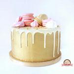 DripCake met Macarons, Golden edition, taart Den Bosch