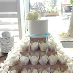WeddingCake White Rose, Fleur en Joey, Weddingcake Den Bosch, Bruidstaart Den Bosch