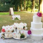 Veldbloemen Bruidstaart en CupCakes Katrien en Ben, bruidstaart 's-Hertogenbosch,bruidstaart den bosch