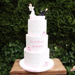 Naughty Weddingcouple, Roy en Birgit, bruidstaart 's-Hertogenbosch, bruidstaart den bosch