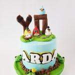 Angry Birds taart ,taart Den Bosch