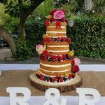Naked WeddingCake, Ronnie en Regine, WeddingCake Den Bosch, Bruidstaart Den Bosch