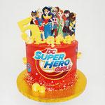 Superherogirls taart, Lara 5 jaar, Taart Den Bosch