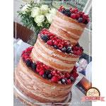 Naked Wedding Cake, bruidstaart 's-Hertogenbosch, bruidstaart den bosch