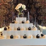 Hanneke en Jeroen, Bride and Groom Cakepops, Bruidstaart Den Bosch