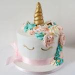 Unicorn taart, pastel tinten, Taart Den Bosch