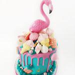 SweetTable Flamingo,Cherrie Cake, Sweettable Den Bosch