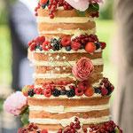 Naked Wedding Cake, Richard en Amber, bruidstaart 's-Hertogenbosch, bruidstaart den bosch,