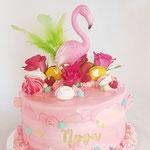 PinkY Flamingo Cake, Nova, Taart Den Bosch