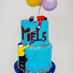 Buurman en Buurman aan de knutsel taart, Mels 4 jaar, Taart Den Bosch