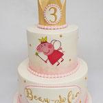 PeppaPig Princess Cake, Beau-Jolie 3 jaar, Taart Den Bosch