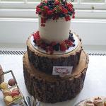 SemiNaked with Fruit, Inger en Stefan, Bruidstaart Den Bosch, WeddingCakes Den Bosch, lokatie Het Witte Kasteel Loon op Zand